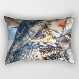 End of January Ruffed Grouse Rectangular Pillow