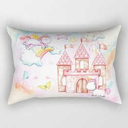 Unicorn Avalon Island Rectangular Pillow