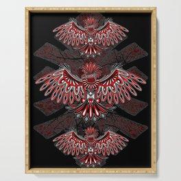 Eagle Tattoo Style Haida Art Serving Tray