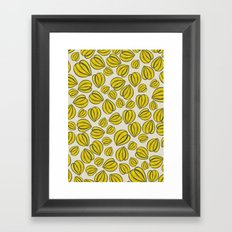 Yellow Floral Pods Framed Art Print
