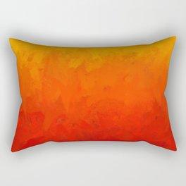 Scarlet and Gold Heat Rectangular Pillow