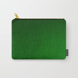 Emerald Green Ombre Design Carry-All Pouch