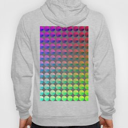 Rainbow pie chart pattern Hoody