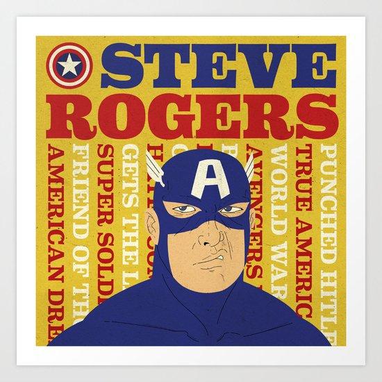 Steve Rogers/Captain America Art Print