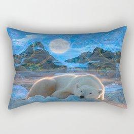 Just Chilling and Dreaming (Polar Bear) Rectangular Pillow