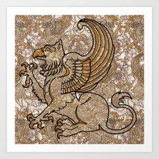 GRIFFIN Art Print