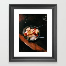 Apple Fro-Yo Framed Art Print
