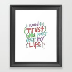 I need to Trust. Framed Art Print