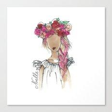 Flower Crowned Canvas Print