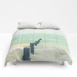 Looking Out to Sea Comforters
