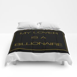 MY LOVER IS A BILLIONAIRE Comforters