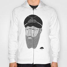 Sikh Guru with Fully Sick Beard and Bejeweled Turban Hoody