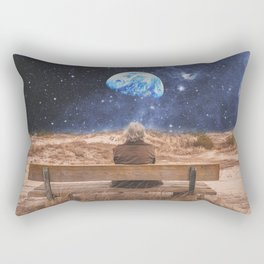 PLANET EARTH, THE UNIVERSE AND I Rectangular Pillow