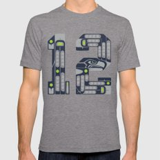 Seattle 12th Man Tri-Grey Mens Fitted Tee LARGE