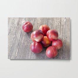 ripe red peaches Metal Print