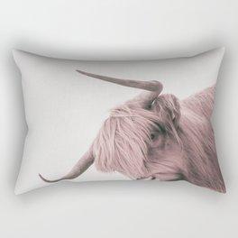 Turn Back Bull Rectangular Pillow
