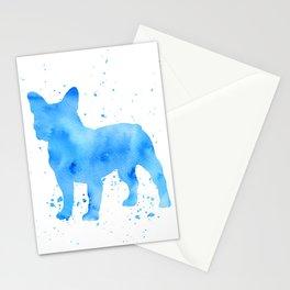 Frenchie splatter Stationery Cards