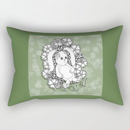 Beloved Bunny for Children Rectangular Pillow