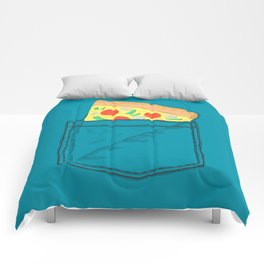 Emergency supply - pocket pizza Comforters