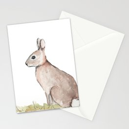 Rabbit Watercolor Stationery Cards