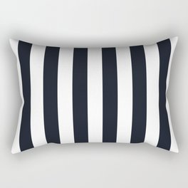 Vertical Stripes Black & White Rectangular Pillow