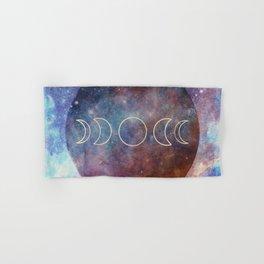 Moon Phases Rose Gold Mandala Hand & Bath Towel