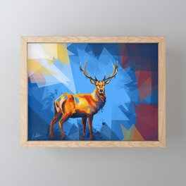 Deer in the Wilderness Framed Mini Art Print