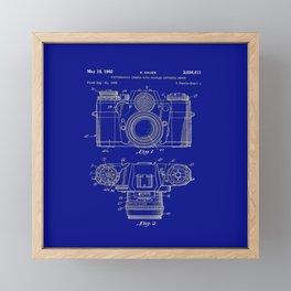 Vintage Camera Patent Blueprint Framed Mini Art Print