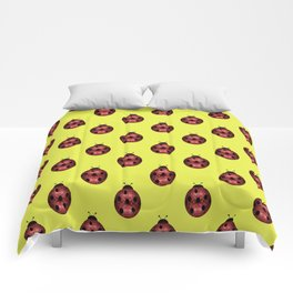 Beautiful Sparkling red sparkles Ladybird Ladybug Comforters