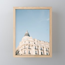 Carlton hotel Cannes South of France Riviera | Architecture photography print | Pastel colored Framed Mini Art Print