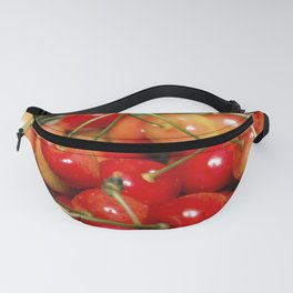 Cherries in a Basket Close Up Fanny Pack
