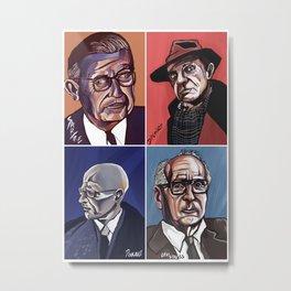 Sartre Deleuze Foucault Lévi-Strauss Metal Print