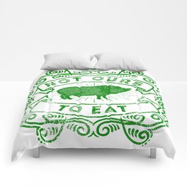 Not Ours To Eat Vegan Statement Comforters