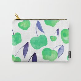 Watercolor cherries - green and blue Carry-All Pouch