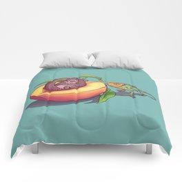 Peach-a-boo! Comforters