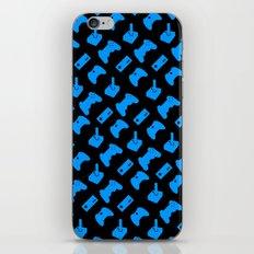Gamer - Aqua on Black iPhone & iPod Skin