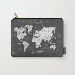 The World Map B/W Carry-All Pouch