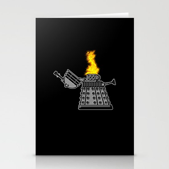 INCINERATE (with flame) Stationery Cards