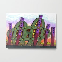 Abstract Cactus Architectural Design 84 Metal Print