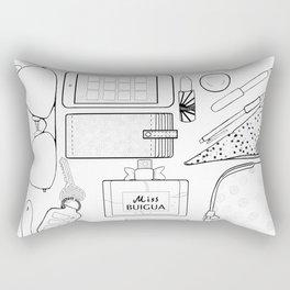 Whats in my bag Rectangular Pillow