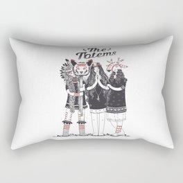 Тotems and Tabu Rectangular Pillow