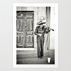 Mr. Violinist Art Print