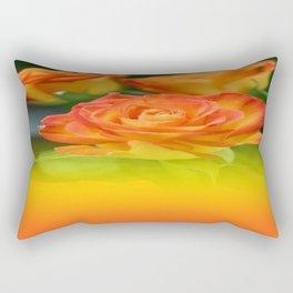 YELLOW ROSES WITH ORANGE TIPS Rectangular Pillow