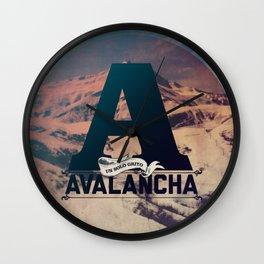 AVALANCHA Wall Clock