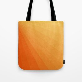 Shades of Sun - Line Gradient Pattern between Light Orange and Pale Orange Tote Bag
