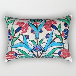 Turkish Tile Pattern Rectangular Pillow