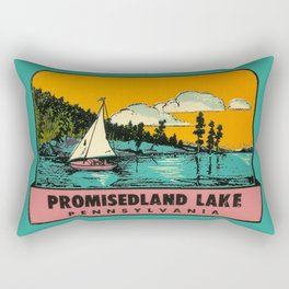 Vintage Retro Camping Promisedland Wanderlust Rectangular Pillow