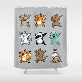 Dabbing Party Shower Curtain