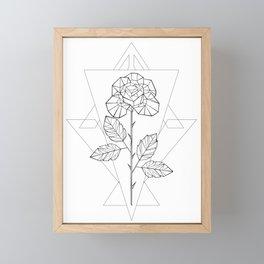 Polygonal Rose Framed Mini Art Print