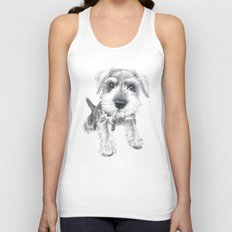 Schnozz the Schnauzer Unisex Tank Top